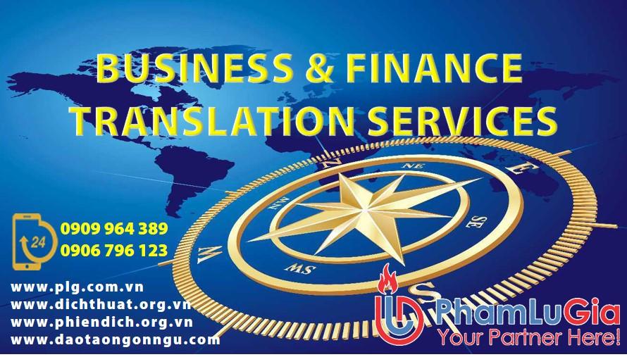 Business & Finance Translation Services