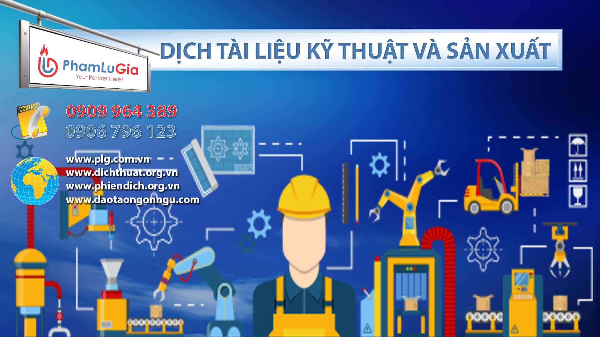 Dịch tài liệu kỹ thuật và sản xuất
