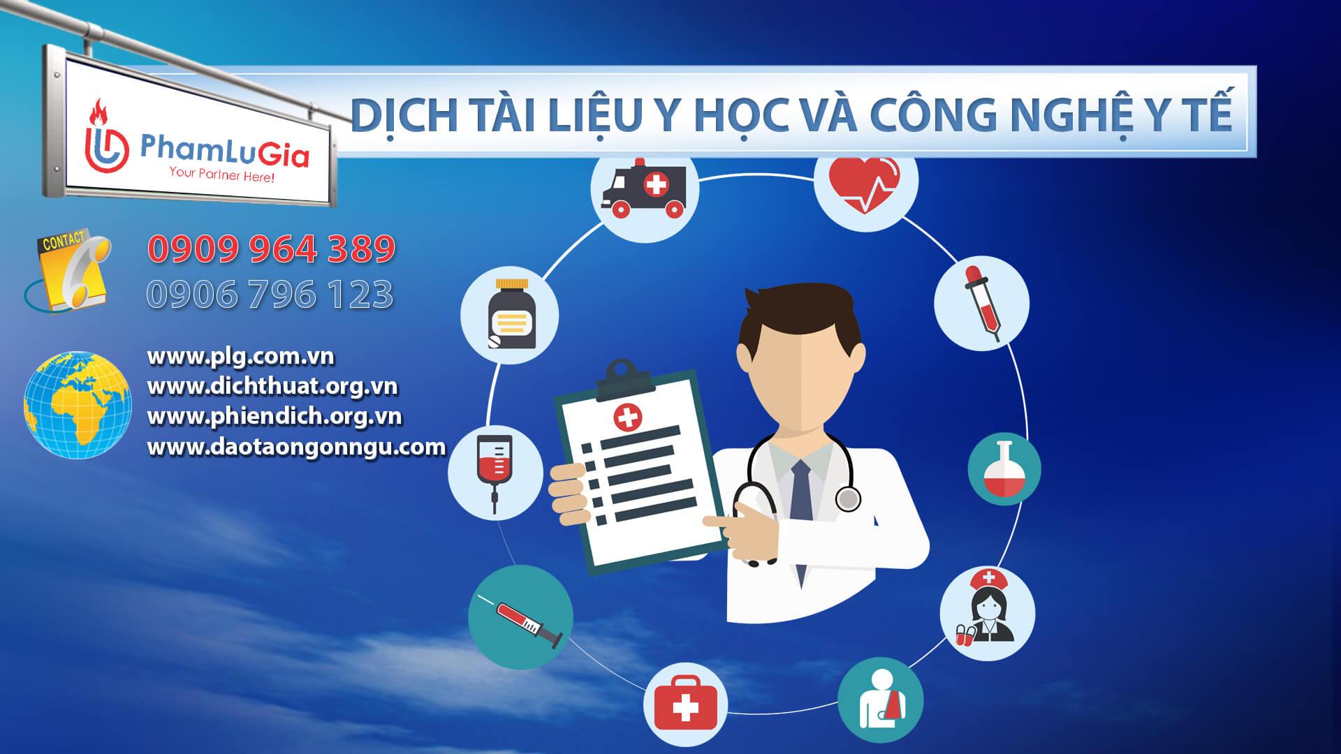 Dịch tài liệu y học và công nghệ y tế