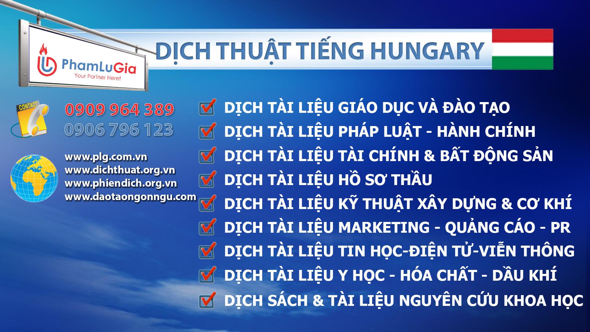 Dịch thuật tiếng Hungary chuyên ngành