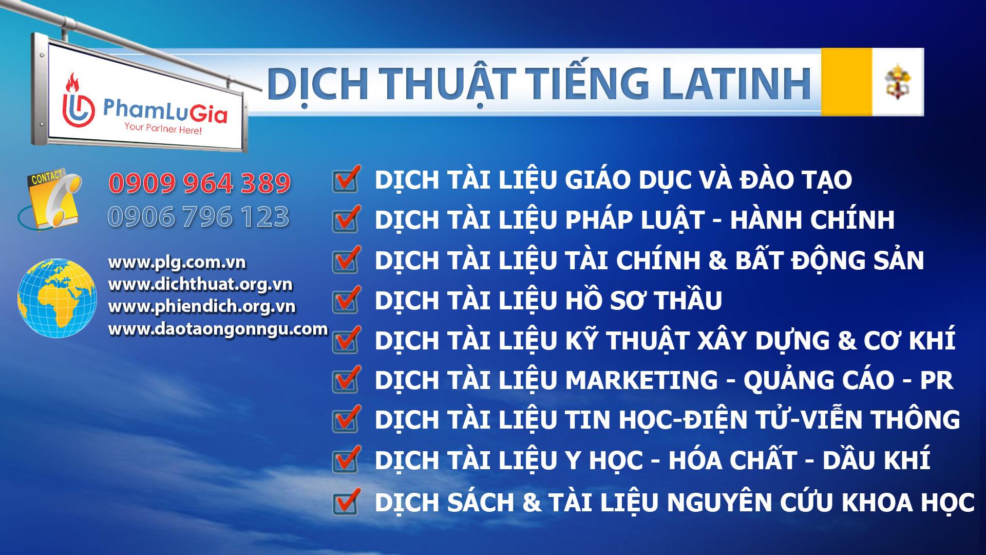 Dịch thuật tiếng Latinh chuyên nghiệp