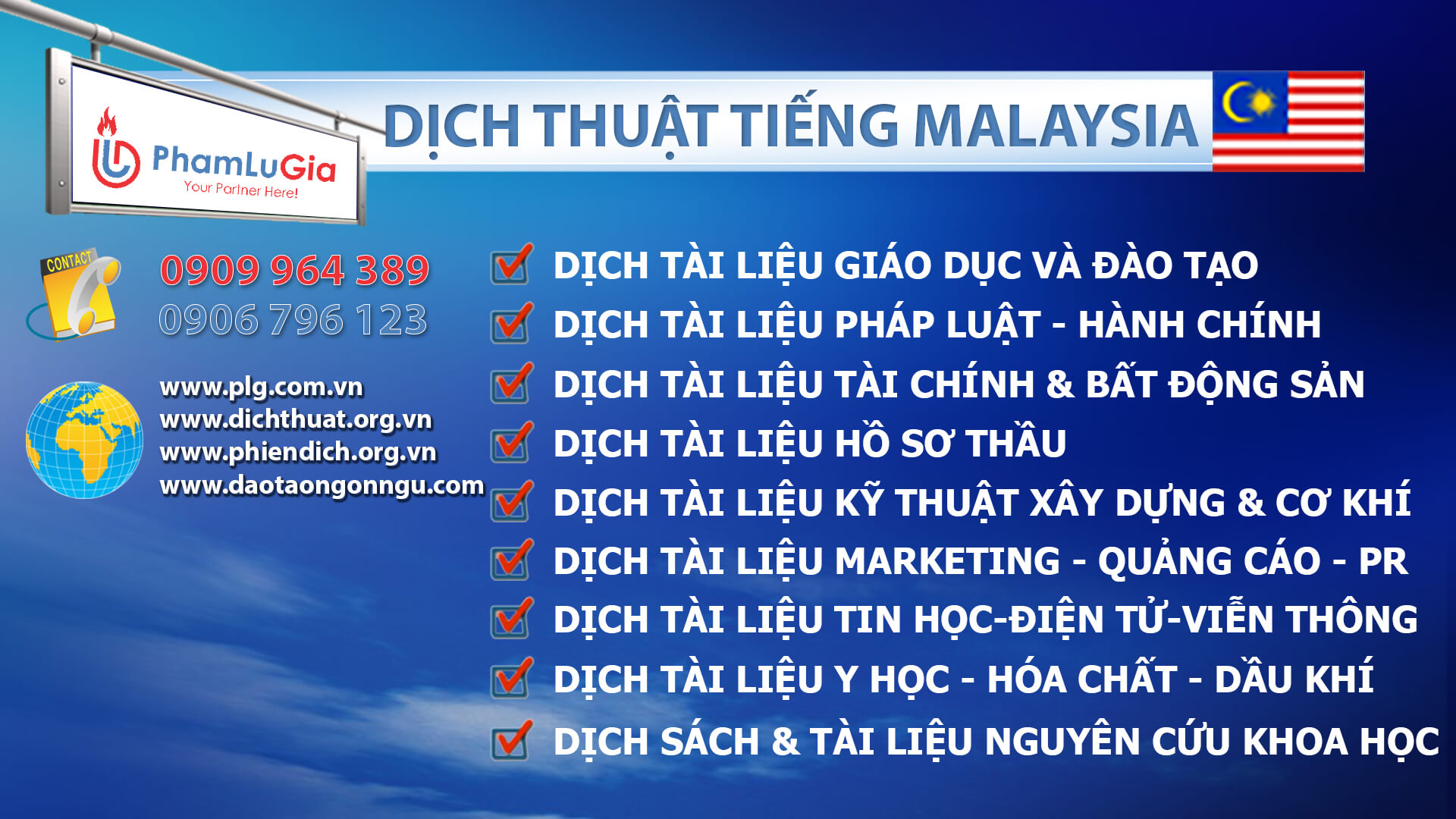 Dịch thuật tiếng Malaysia chuyên ngành