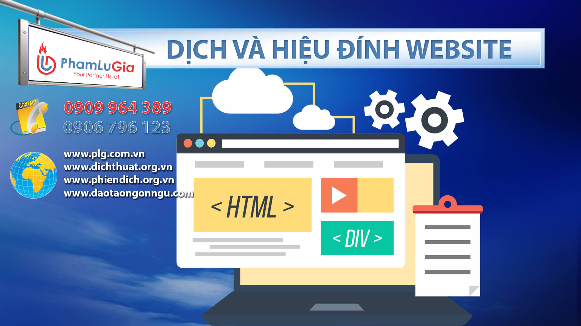 Dịch và hiệu đính website