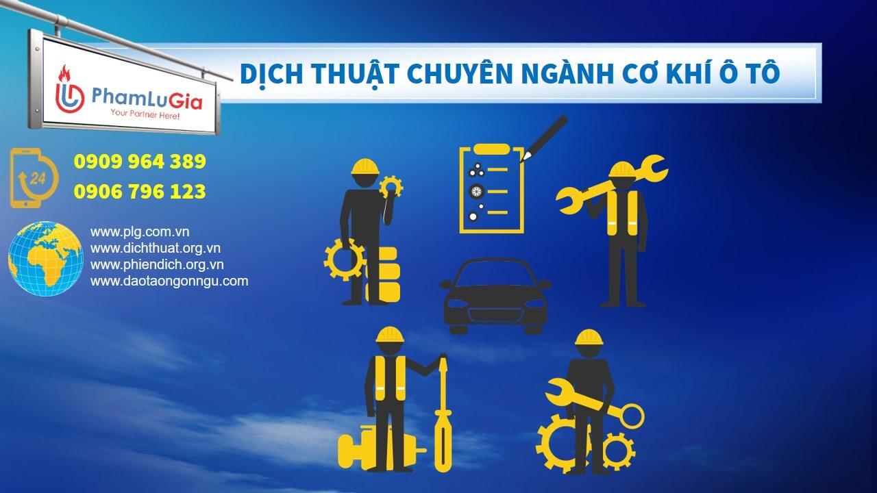 Dịch thuật chuyên ngành kỹ thuật cơ khí ô tô