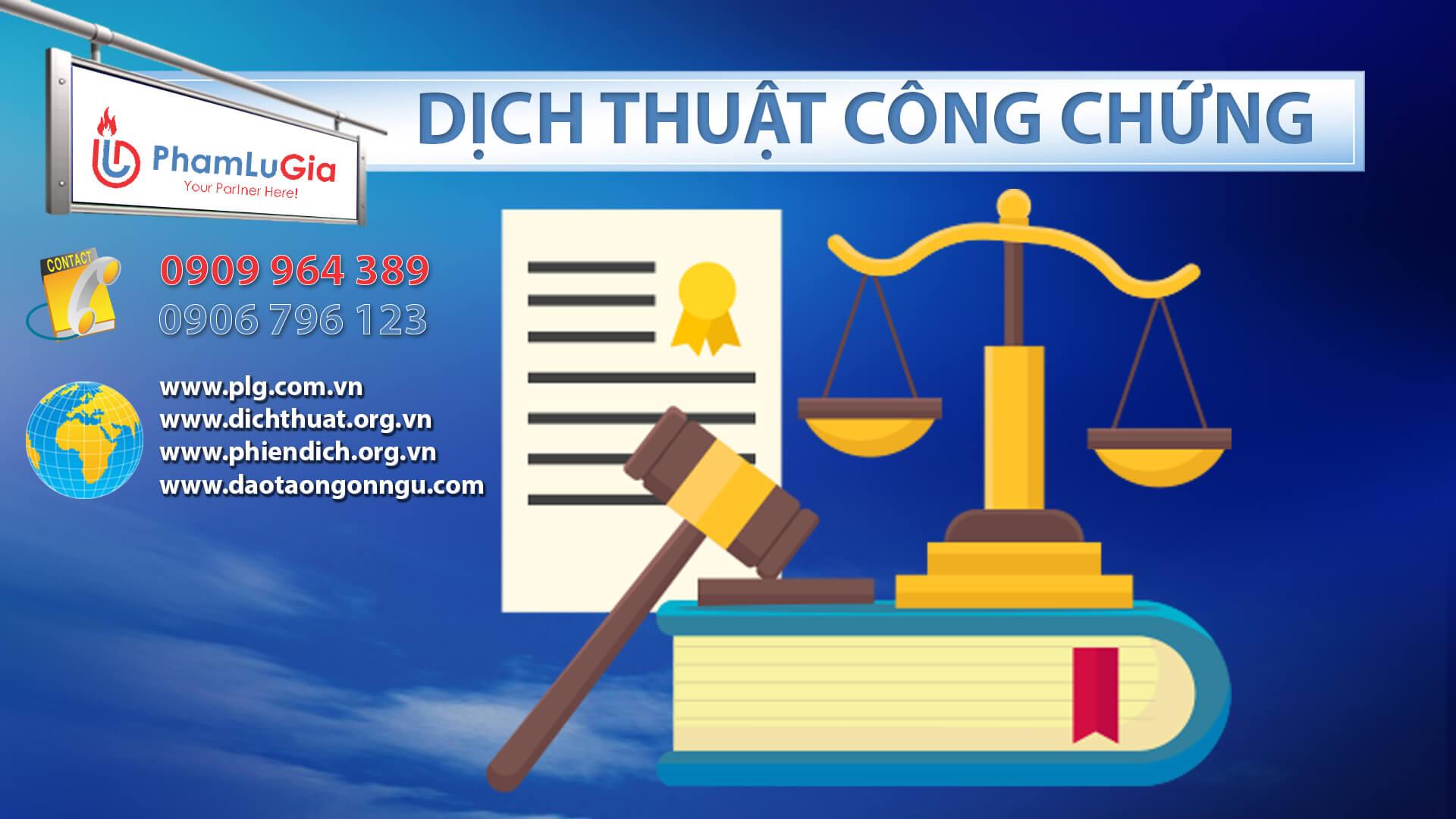 Dịch thuật công chứng Hồ Chí Minh